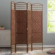 Wicker Room Divider with Palm Tree Room Divider Wayfair