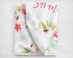 customized baby custom baby blanket etsy