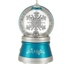 hallmark keepsake 5 spinning snowflake ornament page 1 qvc