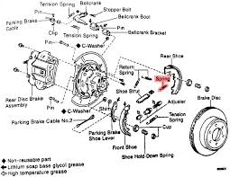 does anyone have a diagram of the rear parking brake assembly