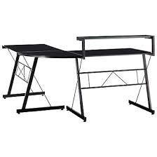 bureau metal et verre meuble bureau et ordinateur pas cher but fr