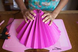how to make a fan diy tutorial pretty paper fans rock n roll