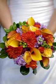 Wedding Flowers Fall Colors - fall colors bridal bouquet silk flower by churchmousecreations