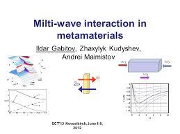 milti wave interaction in metamaterials ppt download