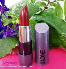 matte maroon lipstick indianbeautyreviewer oriflame the one matte lipstick marry maroon