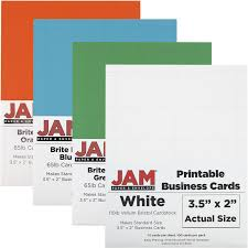 Template For Business Cards 10 Per Sheet by Printable Business Cards 3 1 2 X 2 Jam Paper