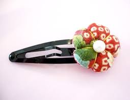 hair pin kawaii japanese kimono fabric hairpin hair clip japan style