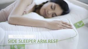 bed pillows for side sleepers side sleeper arm rest pillow sleep yoga youtube
