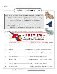 adverbs that end with ly er and super teacher worksheets