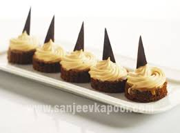 canape mousse how to coffee mousse canape recipe by masterchef sanjeev kapoor