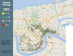 New Orleans Flood Zone Map by Short Term Rentals Urban Conservancy