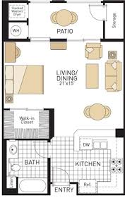 studio apartment plan and layout design with storage floor