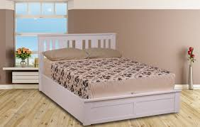 bedroom amazing double bed in white 46 wooden frame ebay with