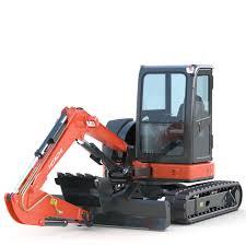 3d model mini excavator hitachi zx55u cgtrader