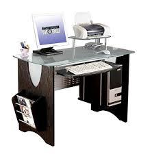 A Computer Desk Techni Mobili Stylish Frosted Glass Top Computer Desk Computer Deskz