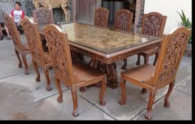 Carved Dining Table And Chairs Dining Room Furniture Tables Chairs China Cabinets Buffets