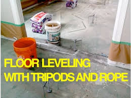 concrete subfloor leveling trick how to level with a and