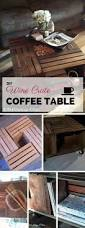 How To Make Wine Crate Coffee Table - wine crate side table nightstand with or without shelf more