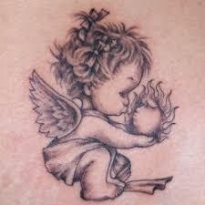 small angel tattoo tattoo dragon angel