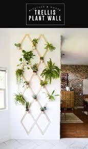 diy wood and leather trellis plant wall u2022 vintage revivals