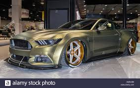 cool ford mustangs customized ford mustang car at sema stock photo royalty free