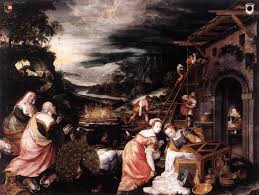 ark cycle 5 noah s sacrifice of thanksgiving on canvas by