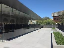 new glass enclosed stanford apple store nearing grand opening