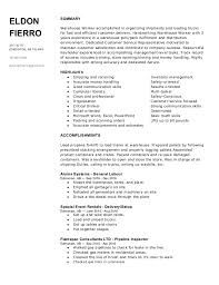Warehouse Resumes Retail Sales Objective Resume Cover Letter For Customer Service
