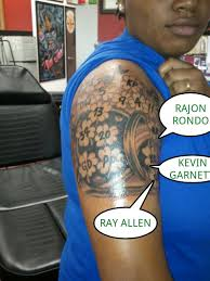celtics fan gets tattoo with nearly every 2010 2011 player u0027s
