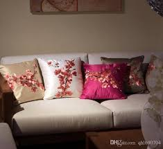 Sofa Cushion Replacement by Embroidery Flower Pillow Chinese Classical Plum Big Back Cushion
