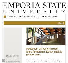 newsletter template marketing u0026 media relations emporia state