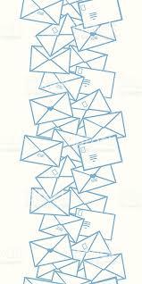 envelope border pattern postal letters envelopes line art vertical seamless pattern