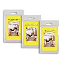 amazon com 3 pack lemon sugar cookie tuscany candle wax melts