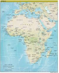 Map Of Africa Political by Africa Continent Detailed Relief And Political Map Detailed