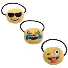 amazon com emoji ponytail holder fun collection 3 pack beauty