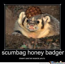 Meme Honey Badger - scumbag honey badger by mrsuperman meme center