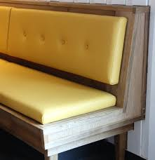 kitchen banquette table plain matte white wooden kitchen cabinet