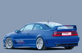 opel calibra tuning rieger rear skirt extension