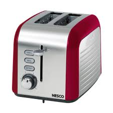 Stainless Toaster 2 Slice Nesco 2 Slice Red And Chrome Toaster T1000 12 The Home Depot