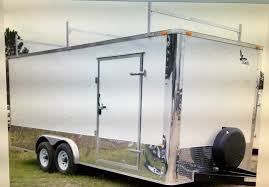Enclosed Trailer Awning For Sale 8 5x14 Tandem Axle Cargo Trailers Cargo Trailers For Sale