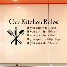 2015 quote vinyl art wall stickers decal our kitchen rules