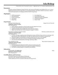 social worker resumes best adoptions social worker resume exle livecareer