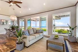wainani estates new construction home the big reveal hawaii living room with view to lanai and ocean