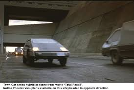 town car a hybrid electric car town car in scene from total recall