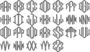 monogrammed fonts monogram styles fonts