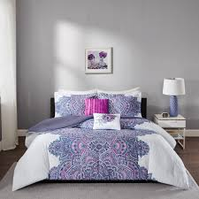 amazon com mila comforter set purple full queen home u0026 kitchen