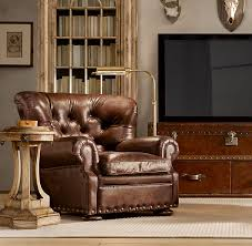 Restoration Hardware Recliner Churchill Leather Recliner Finally A Beautiful Recliner