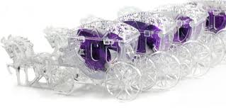 glass slipper favors free shipping 100 pcs lot plastic carriage fairy