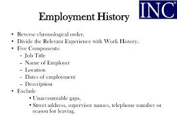 Employment History On Resume Employment History On Resume Relationscreate Ga