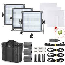 led studio lighting kit f v k4000 daylight led studio panel photography lighting 3 light kit
